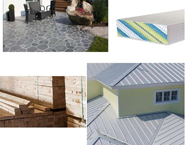 Tile Roofs, Commercial Ceilings, Metal Studs, Metal Roofs